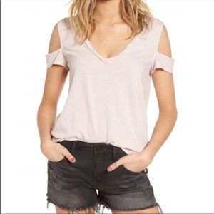 Pam and gela black cold shoulder T shirt small